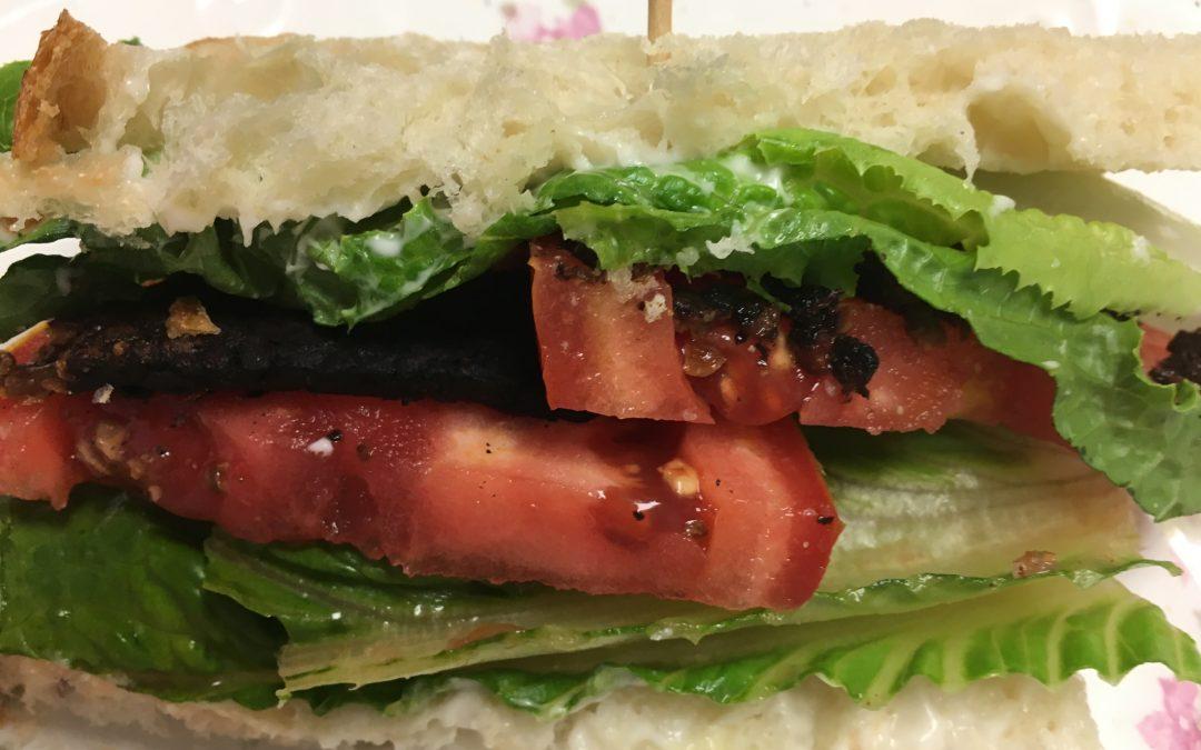 TLT: Tempeh, Lettuce and Tomato Sandwich